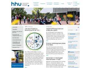 Heinrich-Heine-Universitaet Düsseldorf Screenshot