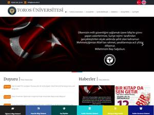 Toros Üniversitesi's Website Screenshot