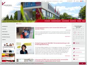 Universität Vechta's Website Screenshot