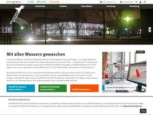 Hochschule Wismar's Website Screenshot
