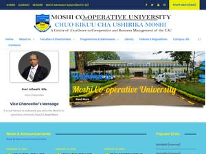 Moshi Co-operative University's Website Screenshot