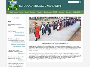 Ruaha Catholic University's Website Screenshot