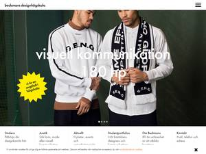 Beckmans Designhögskola's Website Screenshot
