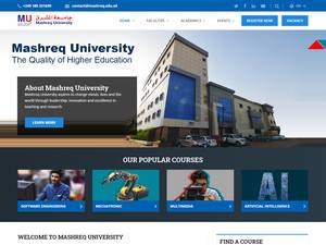 Mashreq University's Website Screenshot