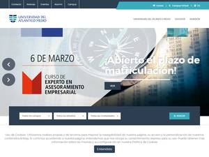 Universidad del Atlántico Medio's Website Screenshot