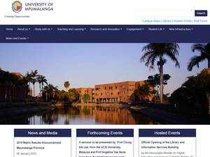 University of Mpumalanga Screenshot