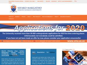 Sefako Makgatho Health Sciences University's Website Screenshot