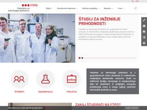 Fakulteta za tehnologijo polimerov's Website Screenshot