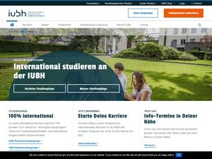IUBH School of Business and Management Screenshot