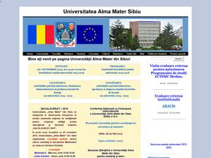 Universitatea Alma Mater Sibiu's Website Screenshot