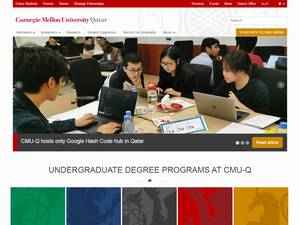 Carnegie Mellon University in Qatar's Website Screenshot