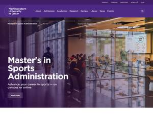Northwestern University in Qatar's Website Screenshot