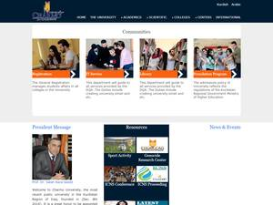 Charmo University's Website Screenshot