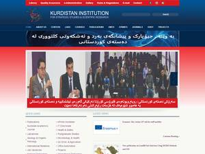 Kurdistan Institution for Strategic Studies and Scientific Research Screenshot