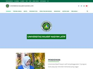 Universitas Maarif Hasyim Latif's Website Screenshot
