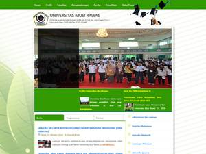 Universitas Musi Rawas's Website Screenshot