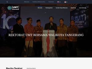 Universitas Muhammadiyah Tangerang's Website Screenshot