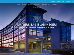 Maulana Malik Ibrahim State Islamic University of Malang Screenshot