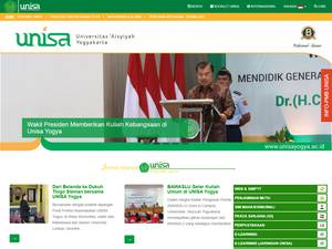 Universitas Aisyiyah Yogyakarta's Website Screenshot