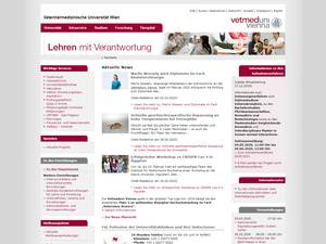 Veterinärmedizinische Universität Wien's Website Screenshot