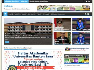 Universitas Banten Jaya's Website Screenshot