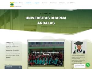 Universitas Dharma Andalas's Website Screenshot