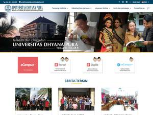 Universitas Dhyana Pura's Website Screenshot