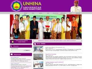 UNHENA University at unhena.ac.id Screenshot