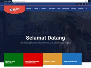 Universitas Islam Al-Ihya Kuningan's Website Screenshot