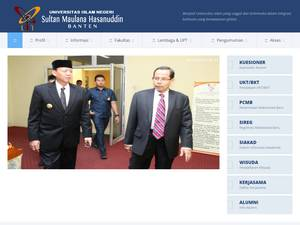 Sultan Maulana Hasanuddin State Islamic University of Banten Screenshot