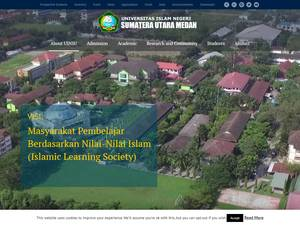 Universitas Islam Negeri Sumatera Utara's Website Screenshot