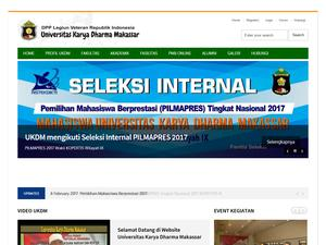 Karya Dharma University of Makassar Screenshot
