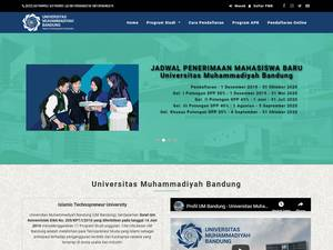 Universitas Muhammadiyah Bandung's Website Screenshot