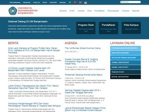 Universitas Muhammadiyah Banjarmasin's Website Screenshot