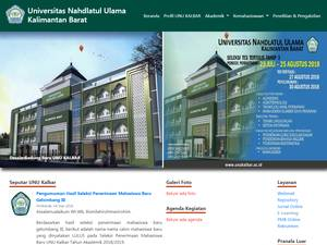 Universitas Nahdlatul Ulama Kalimantan Barat's Website Screenshot