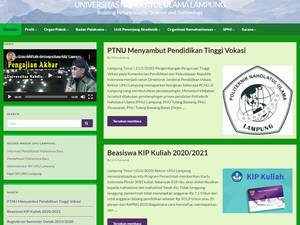 Universitas Nahdlatul Ulama Lampung's Website Screenshot
