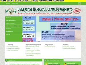 Nahdlatul Ulama University of Purwokerto Screenshot