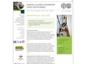 Martin-Luther-Universität Halle-Wittenberg's Website Screenshot