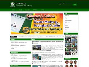 Universitas Nahdlatul Ulama Sidoarjo's Website Screenshot