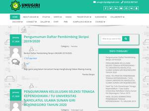 Sunan Giri Nahdlatul Ulama University Screenshot
