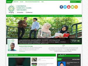 Universitas Nahdlatul Ulama Yogyakarta's Website Screenshot