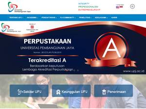 Universitas Pembangunan Jaya's Website Screenshot