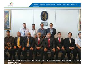 Pertamina University Screenshot
