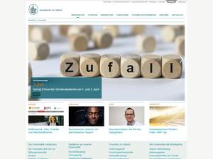 Universität zu Lübeck's Website Screenshot