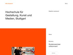 Merz Akademie's Website Screenshot