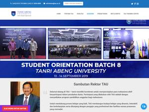 Universitas Tanri Abeng's Website Screenshot