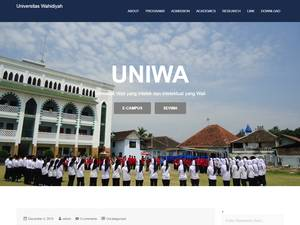 Universitas Wahidiyah's Website Screenshot