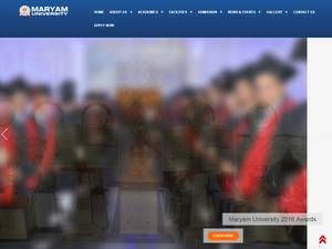 Maryam University's Website Screenshot