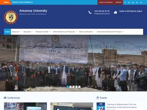 Avicenna University's Website Screenshot