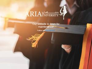 Aria University's Website Screenshot